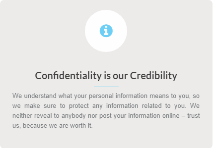 Academic Writing Pro Features - confidentiality