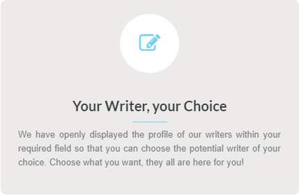 Hire Writer Of Your Choice